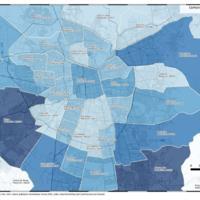 Mapa de Población de Comunas de Santiago 2002