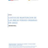 Costos de mantención de las áreas verdes urbanas en Chile